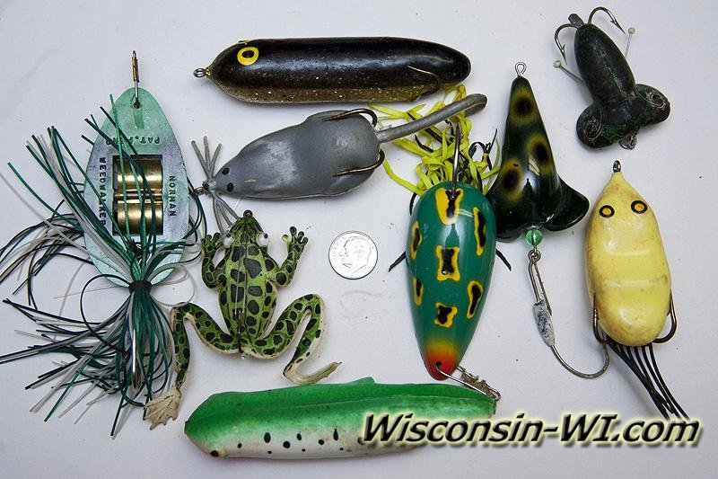 Bass Fishing Lures, Baits, Tackle & Gear used in Wisconsin