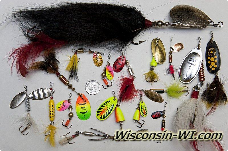 Photo of Inline Spinners, Bucktails,  Minnows and Spinners