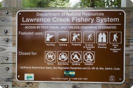 Lawrence Creek Trout Stream Photos