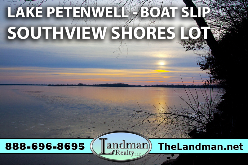 Lake Petenwell Access Lot for Sale with Boat Slip Southview Shores