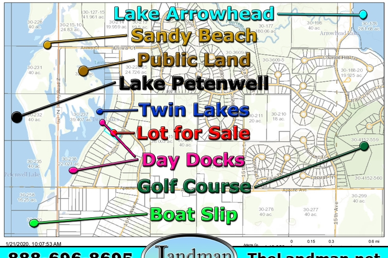 Twin Lakes Lot for Sale & Boat Slip on Lake Petenwell