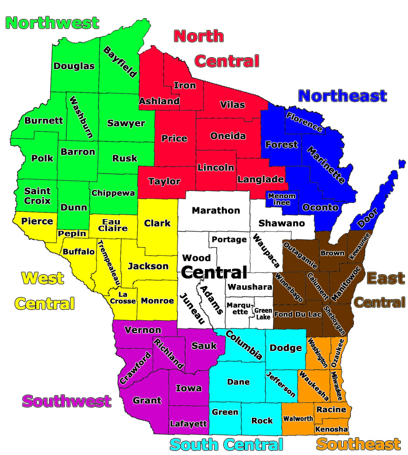 Wisconsin Gis Maps By County